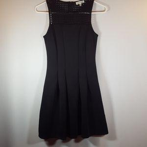 Monteau Los Angeles pleated black dress sleeveless